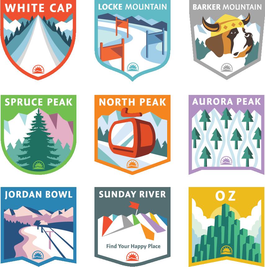 Sunday River, Peak Badges