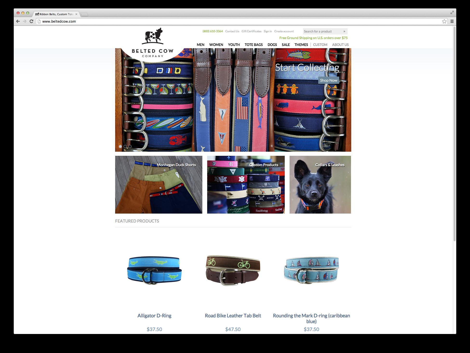 Belted Cow, Website