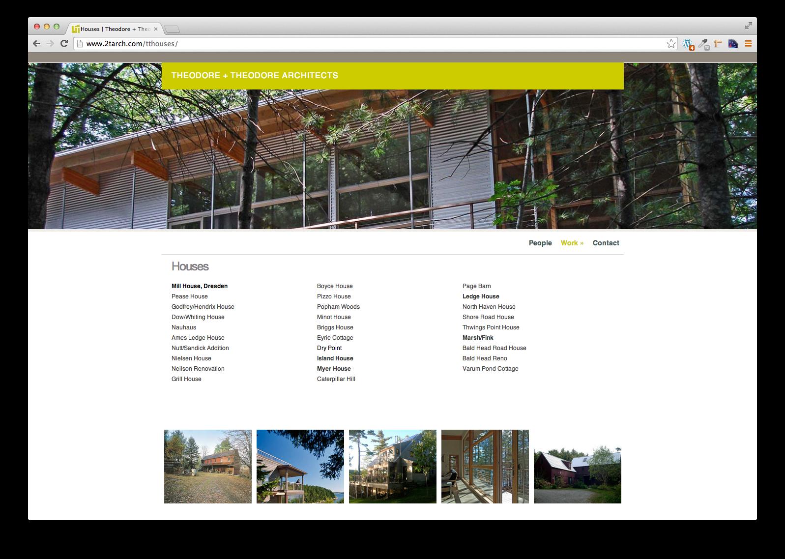 T+T Architects, Web