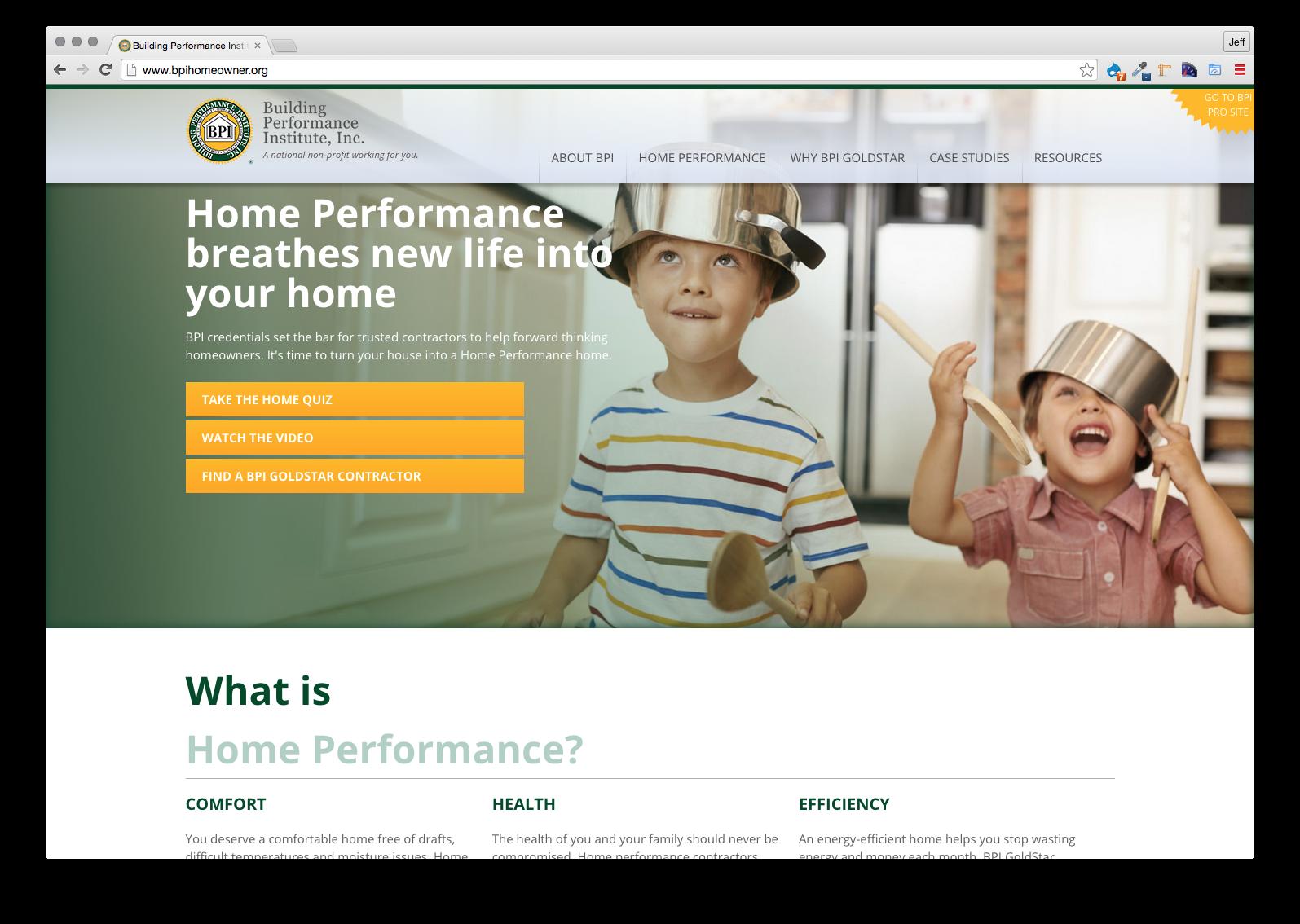 BPI, Website