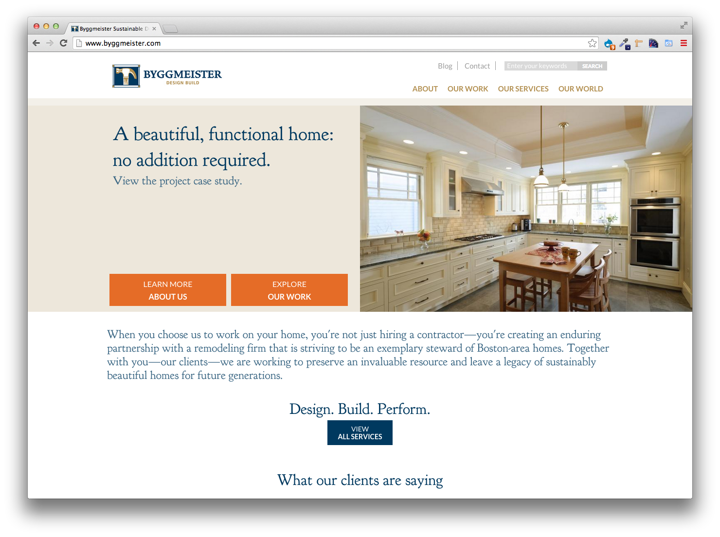 Byggmeister, Website