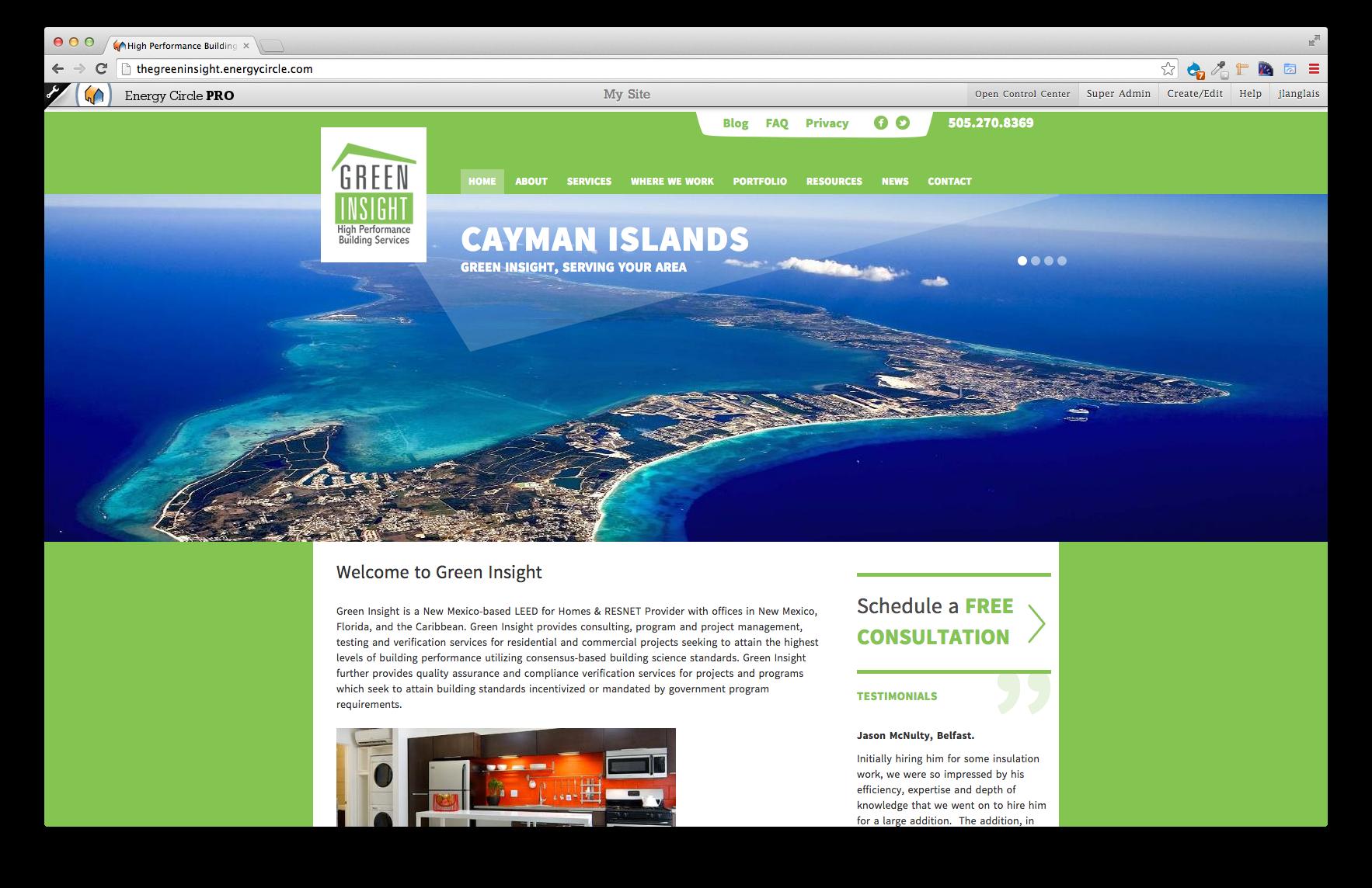 Green Insight, EC Pro Website