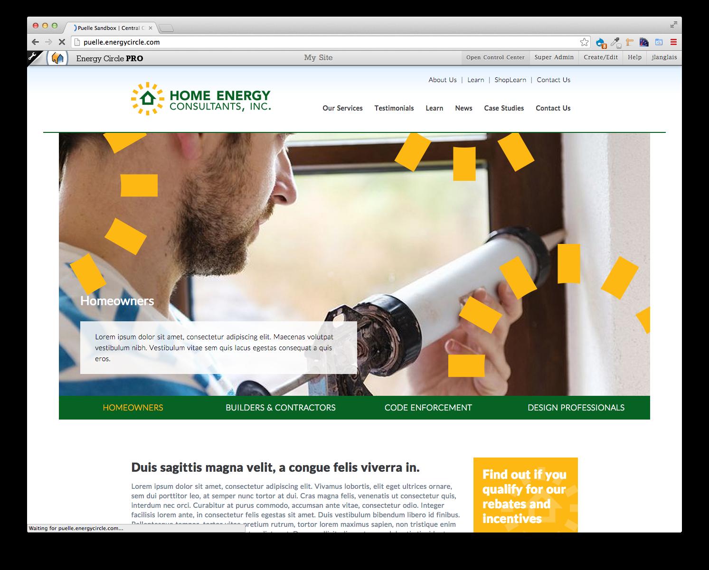 Home Energy Consultants, EC Pro Website