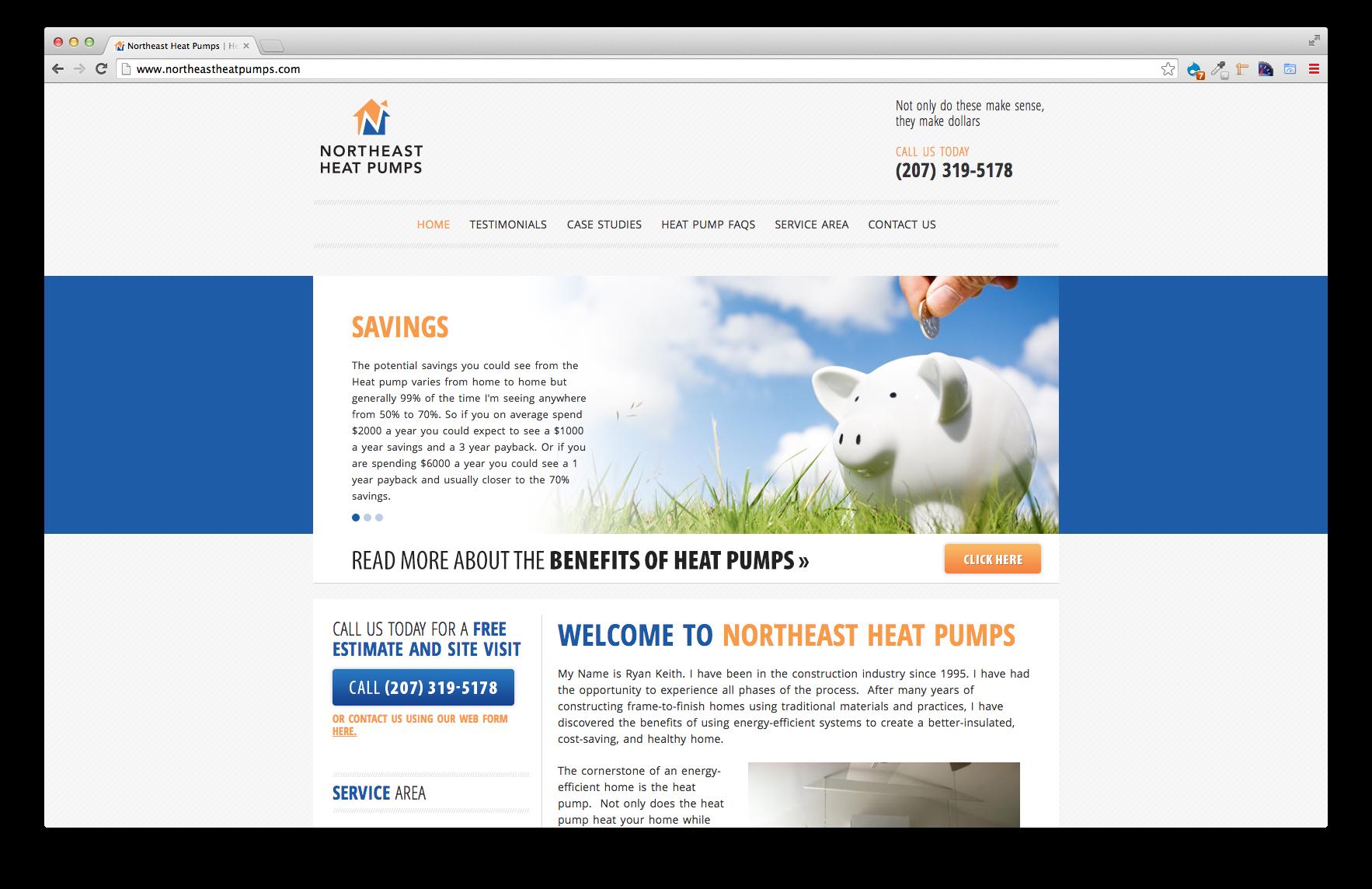Northeast Heat Pumps, EC Pro Website