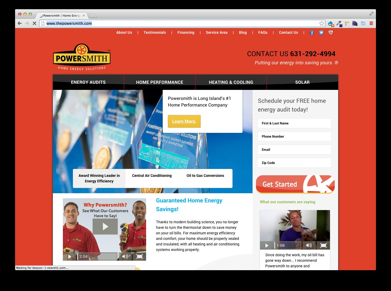 Powersmith, Website