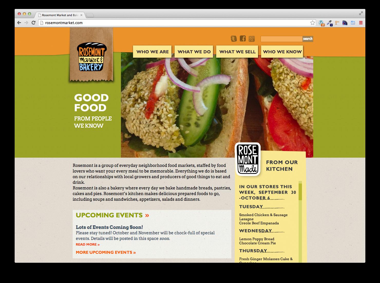 Rosemont Market, Website