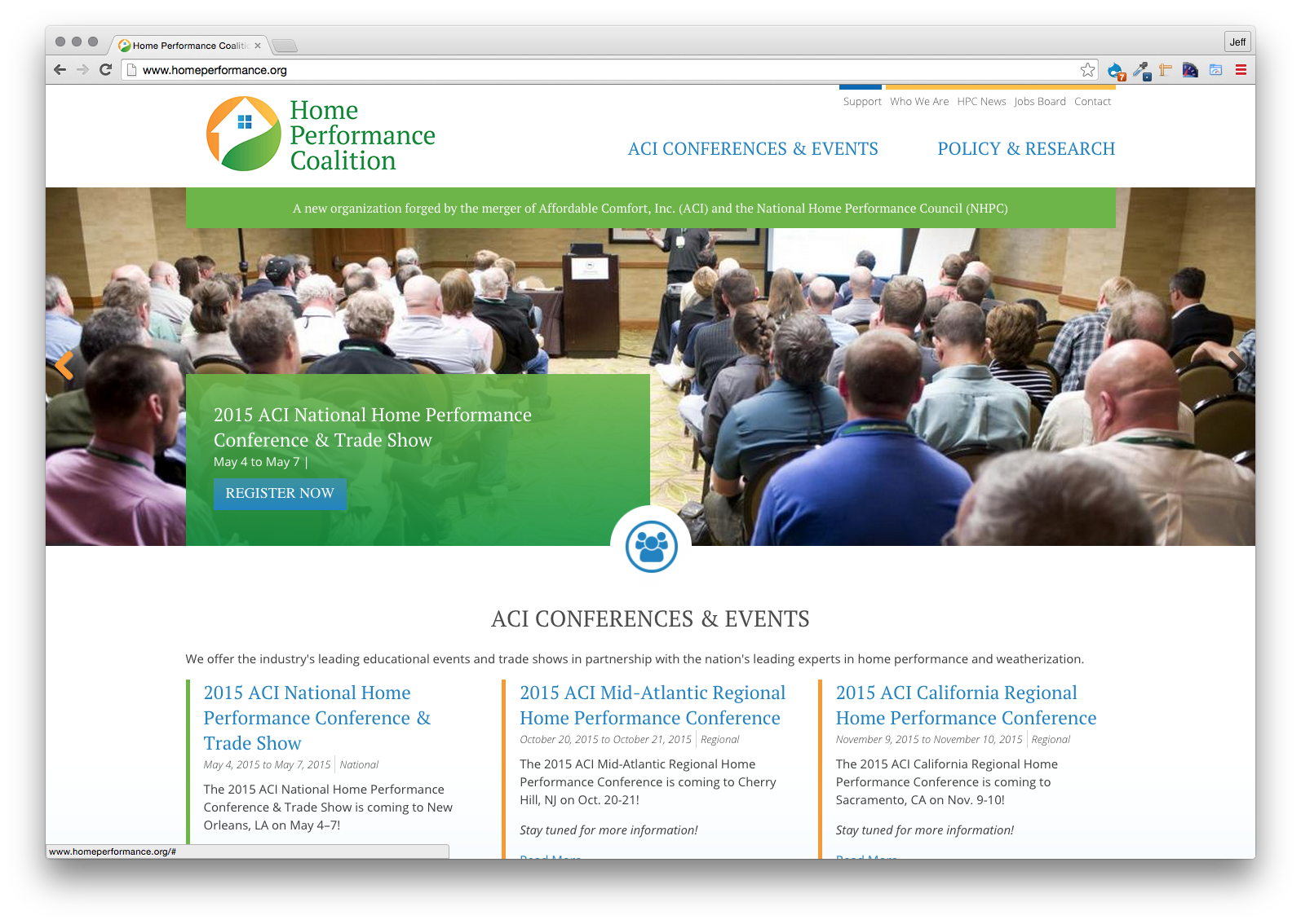 Home Performance Coalition, Website
