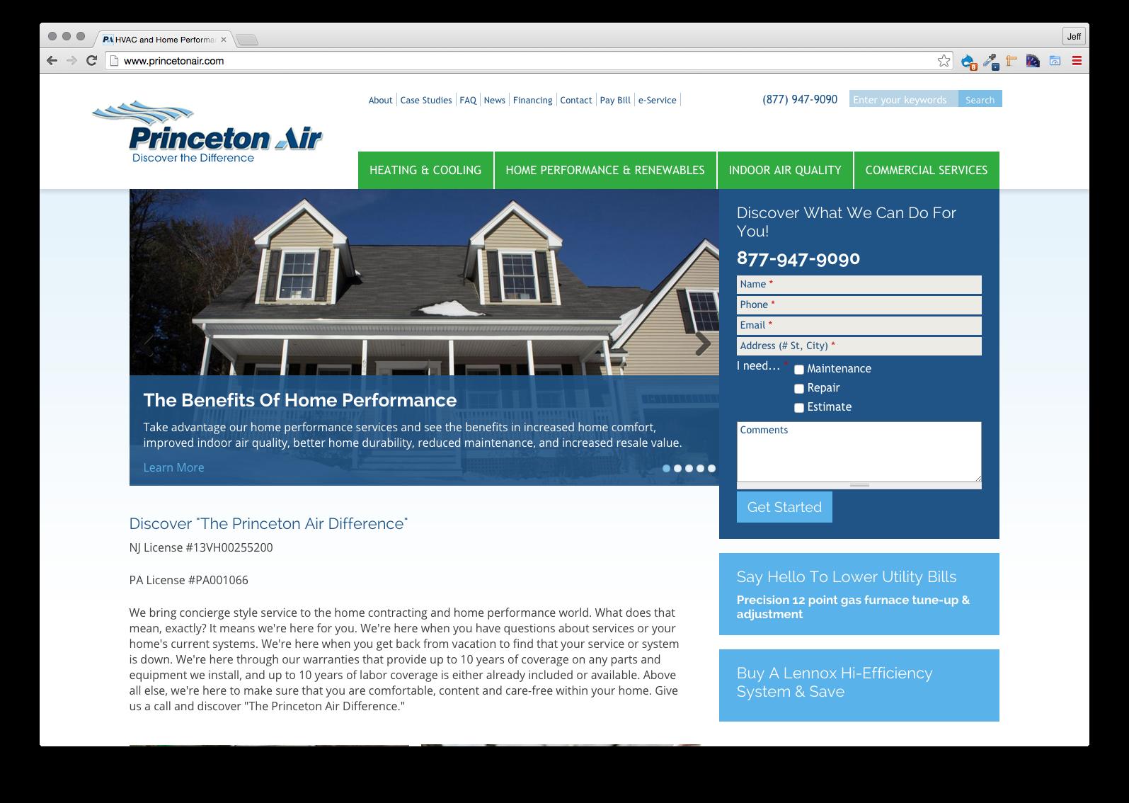 Princeton Air, Website