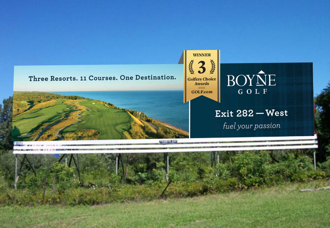 Boyne Golf Billboard