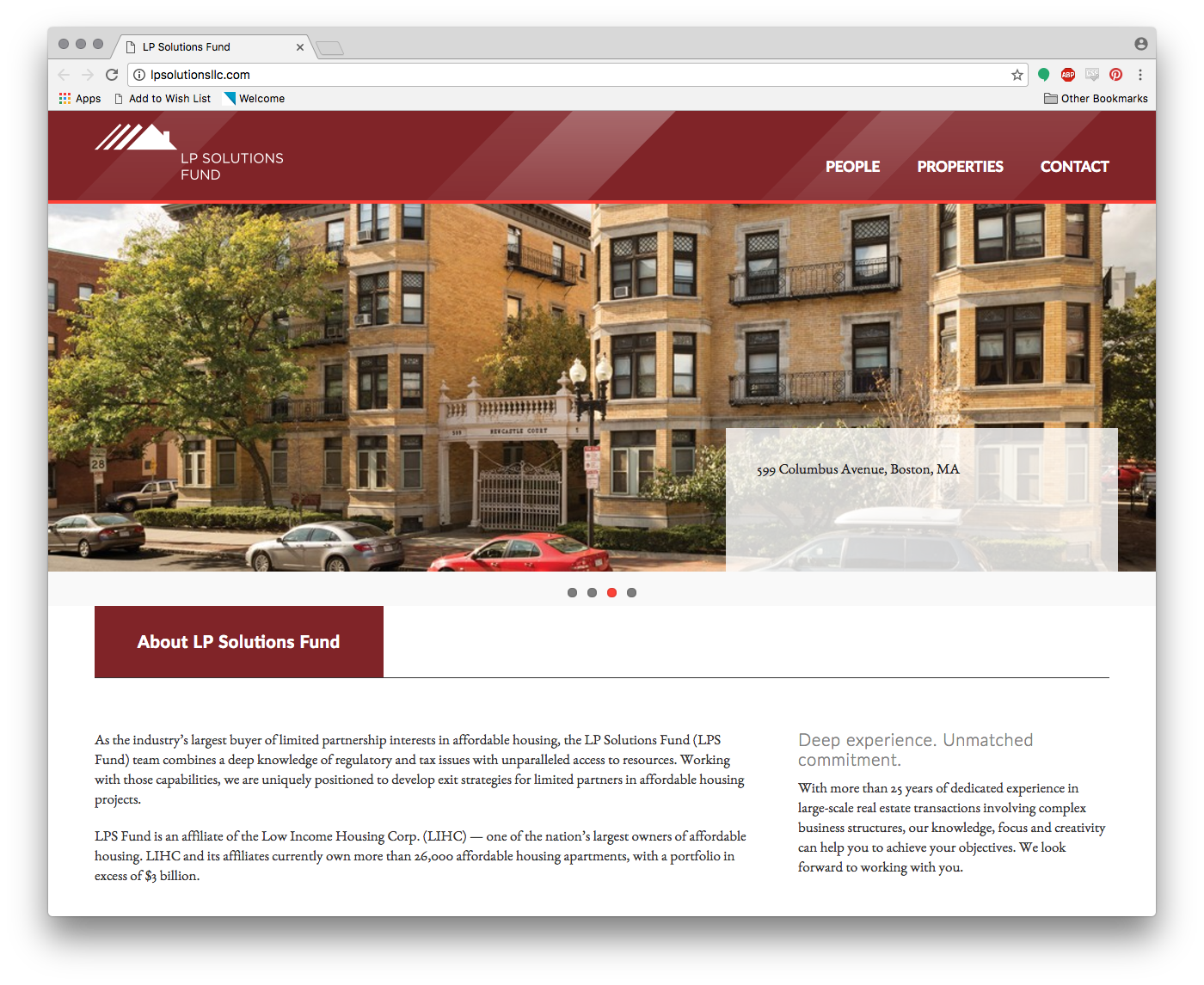 LP Solutions Fund Website