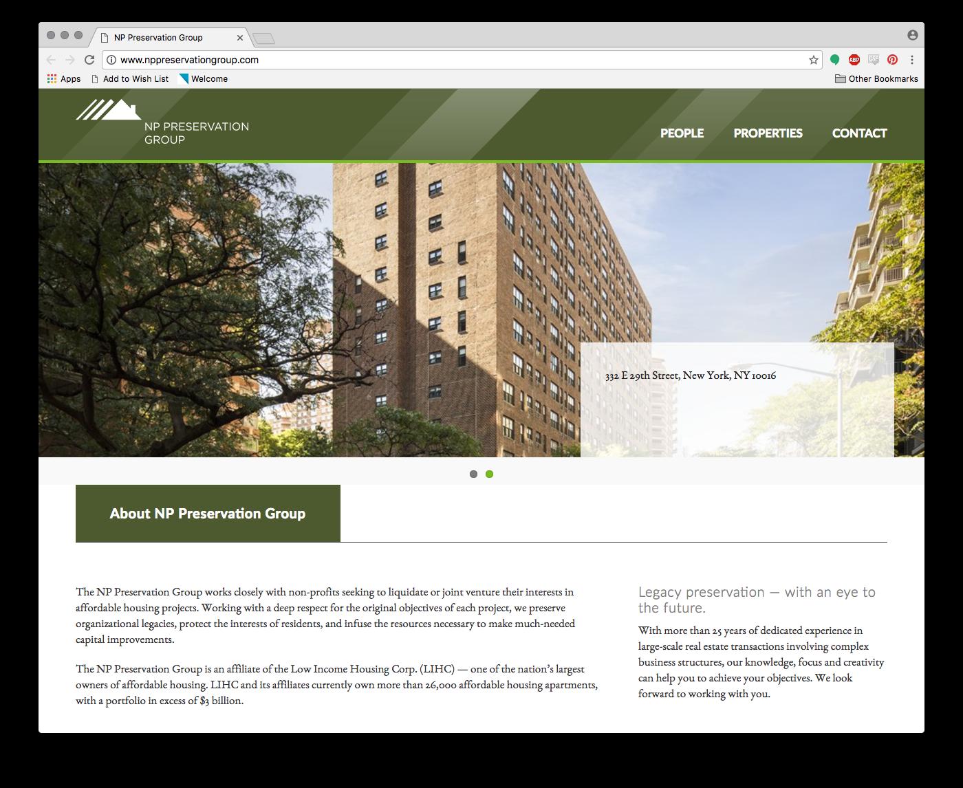 NP Preservation Group Website