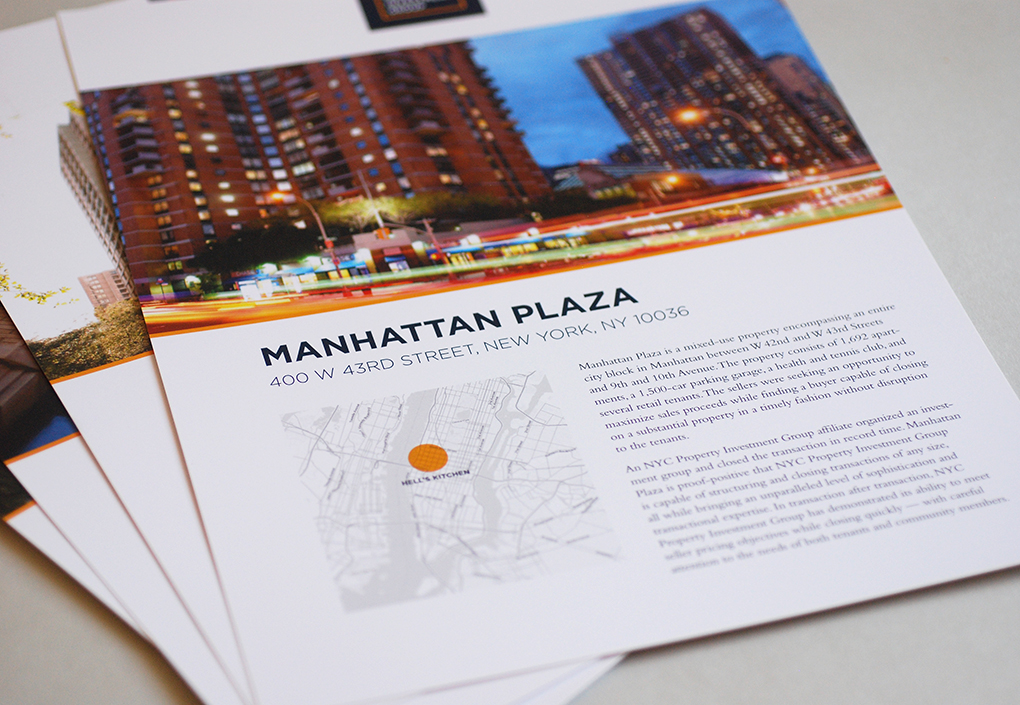 NYC Property Investment Information Sheets
