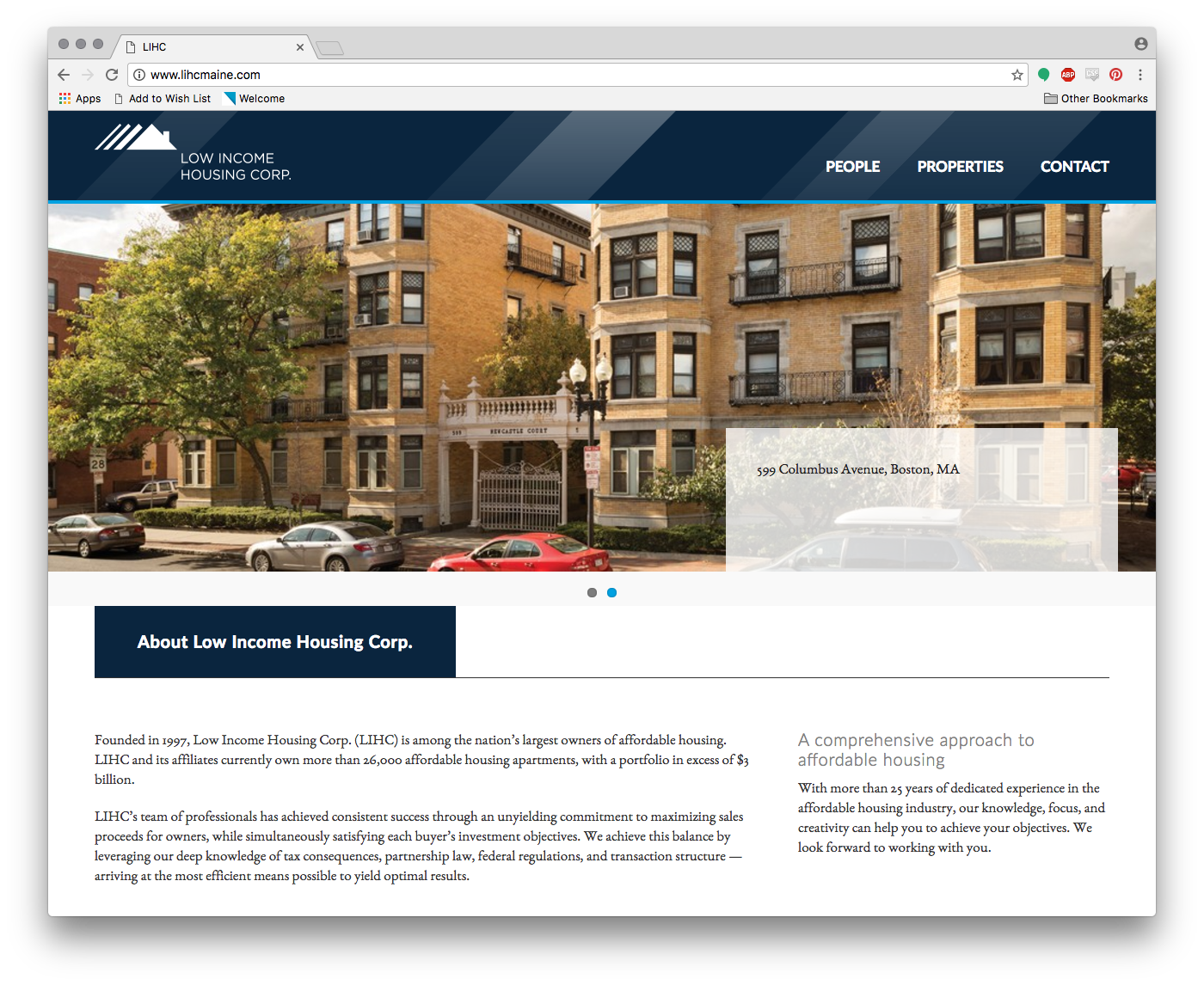 Low Income Housing Corp. Website