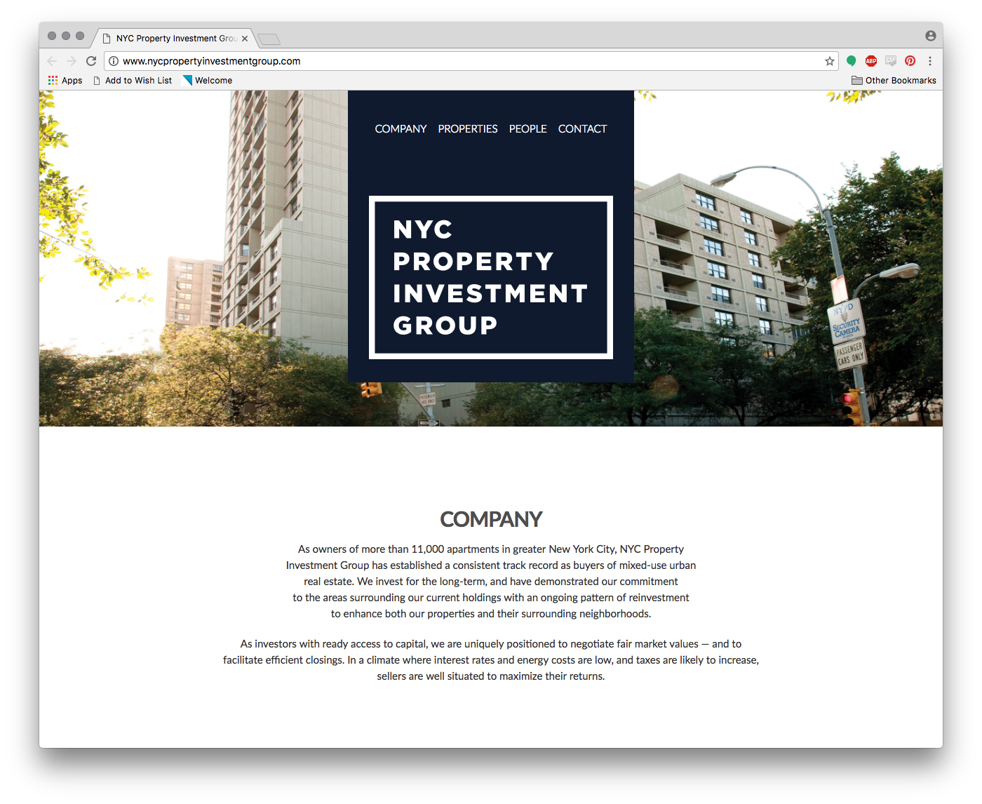 NYC Property Investment Group Website